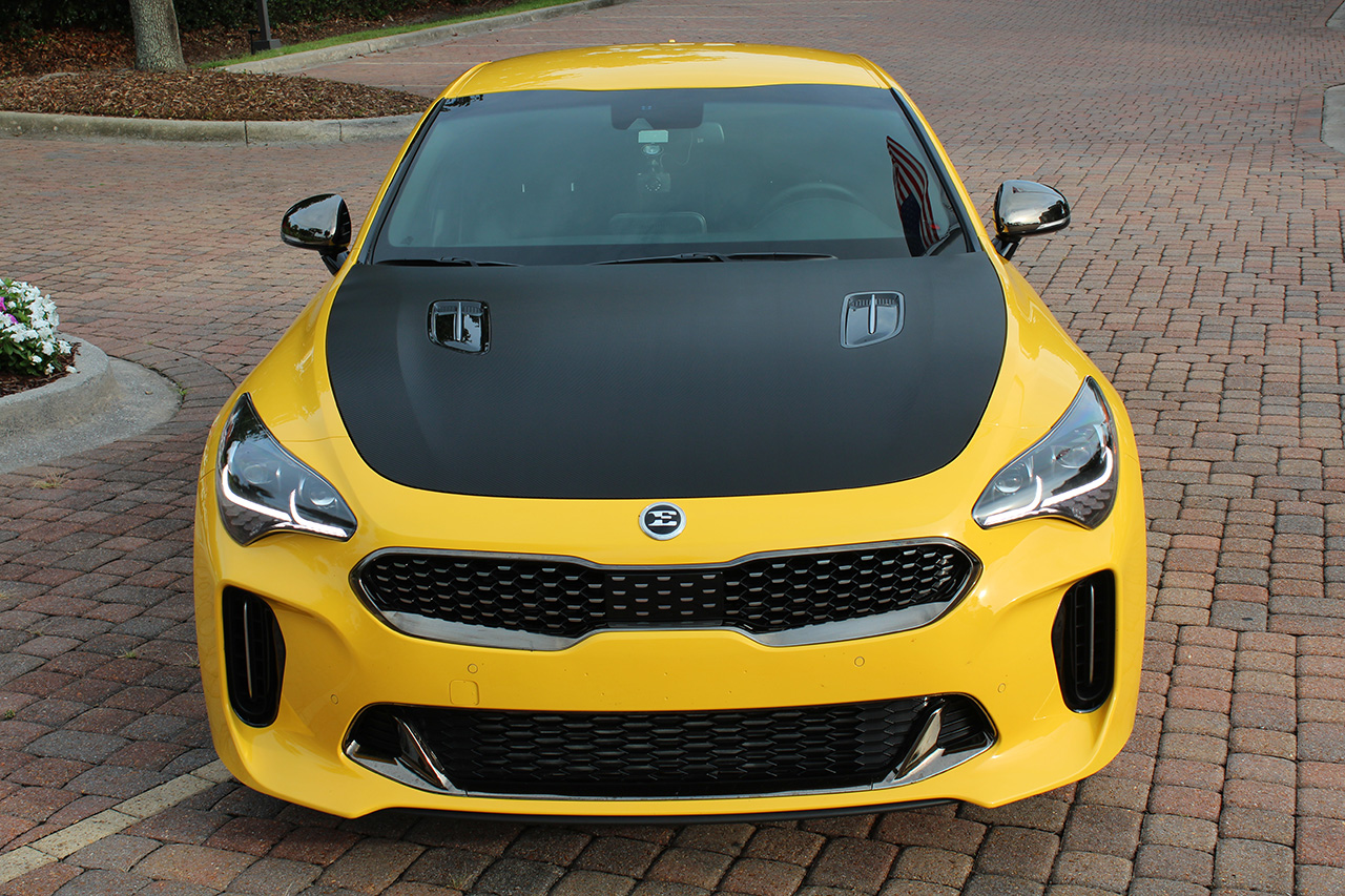 Kia Stinger Gt Hood And Trunk Carbon Fiber Wrap With