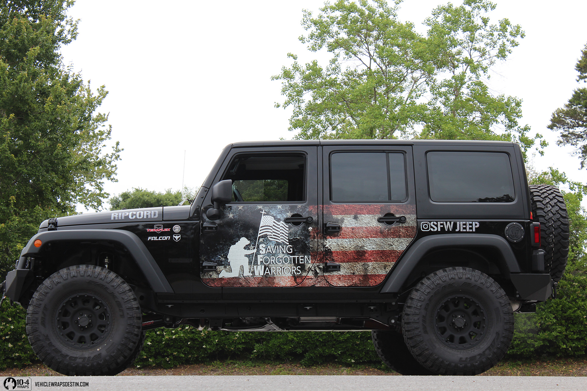 Jeep Rubicon Wrapped With The American Flag 10 4wraps