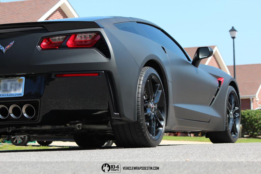 Corvette C7 Matte Black Vinyl Wrap 10 4wraps Vehicle